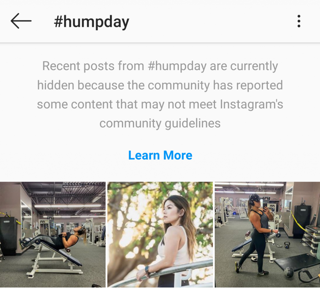 Instagram hashtag research banned post